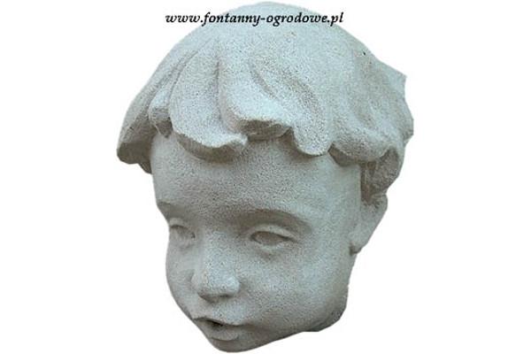 Rzeźba głowa chłopca. Kamień
