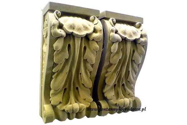 Dekoracja z piaskowca - konsola kominkowa