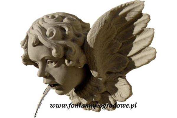 Rzygacz aniołek z piaskowca. Rzeźba