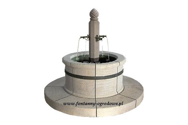 Fontanna ogrodowa okrągła klasyczna