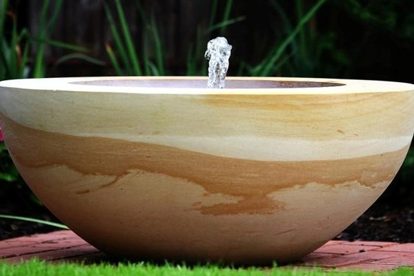 Modern and classic fountains by natural stone