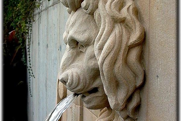Rzygacz do fontanny głowa lwa